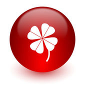 Four-leaf clover red computer icon on white background — Stock fotografie