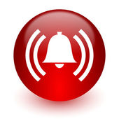 Alarm red computer icon on white background — Stock Photo