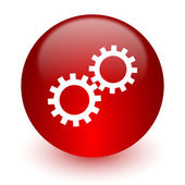 Gear red computer icon on white background — Stock Photo