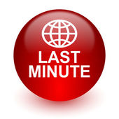 Last minute red computer icon on white background — Foto Stock