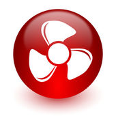 Fan red computer icon on white background — Stock fotografie