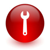 Tool red computer icon on white background — Stock Photo