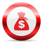 Money glossy web icon — Stock Photo