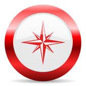 Compass glossy web icon — Stock Photo
