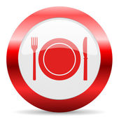 Restaurant glossy web icon — Stock Photo