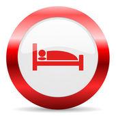 Hotel glossy web icon — Stok fotoğraf