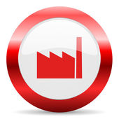 Factory glossy web icon — Stockfoto