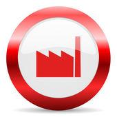 Factory glossy web icon — Stock Photo