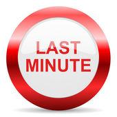 Last minute glossy web icon — Foto de Stock