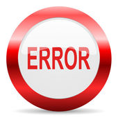 Error glossy web icon — Stock Photo