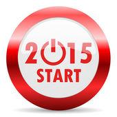 Neujahr 2015 glänzend web-symbol — Stockfoto
