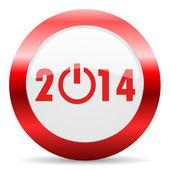 Year 2014 glossy web icon — Foto Stock
