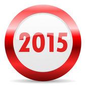 ícone de web lustroso novo ano 2015 — Foto Stock