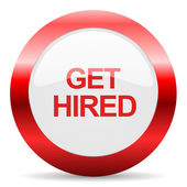 Get hired glossy web icon — Stock Photo