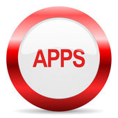 Apps glossy web icon — Stock Photo