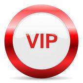 Vip glossy web icon — Stock Photo