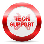 Technical support glossy web icon — Stock Photo