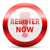 Register now glossy web icon — Stock Photo