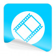 Film blue sticker icon — Stock Photo #51196589