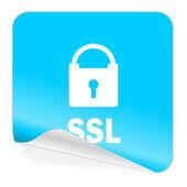 Ssl blue sticker icon — Стоковое фото