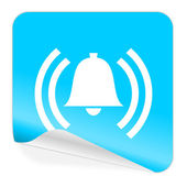 Alarm blue sticker icon — 图库照片