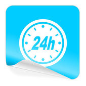 24h blue sticker icon — 图库照片