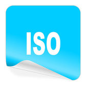 Iso blue sticker icon — Stok fotoğraf