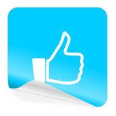 Like blue sticker icon — Stock Photo