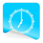 Time blue sticker icon — 图库照片