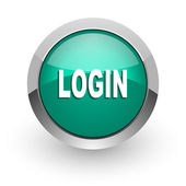 Login green glossy web icon — Stock Photo