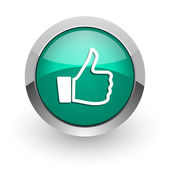 Like green glossy web icon — Stock Photo