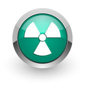 Radiation green glossy web icon — Stockfoto