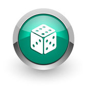 Game green glossy web icon — Stock Photo