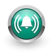 Alarm green glossy web icon — Stock Photo