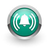 Alarm green glossy web icon — Stockfoto