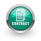 Contract green glossy web icon — Stock Photo