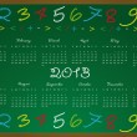 Kalendář 2013 — Stock vektor