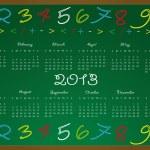 calendário 2013 — Vetorial Stock