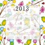 Calendar 2013 — Stock Vector