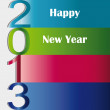 New Year 2013 - Imagens vectoriais em stock