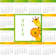 Calendar 2013 - Grafika wektorowa