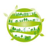 Fond d'écologie — Vecteur