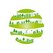 Ekoloji arka plan — Stok Vektör