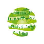 Fondo de ecología — Vector de stock
