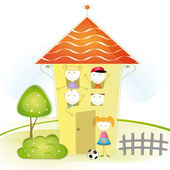 Kids house — Stock Vector