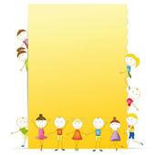 Kids banner — Stock Vector