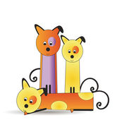 Dogs family — Stock Vector