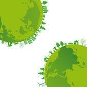 Sfondo di ecologia — Vettoriale Stock