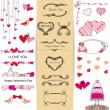 Stock Vector: Set of Valentine