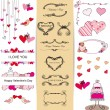 Set of Valentine — Stock Vector #15883585